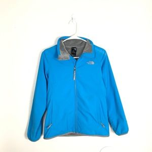 Youth Girls Large TNF Blue Gray Lined Warm Jacket